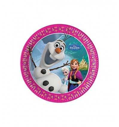 plats de fête de 20 cm frozen 5PR84510 New Bama Party- Futurartshop.com