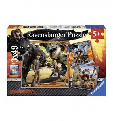 Drachen 3 x 49 puzzle Teile 09258 Ravensburger- Futurartshop.com