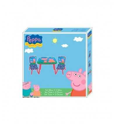 mesa y 2 sillas de peppa pig PP7818 Kreativa- Futurartshop.com