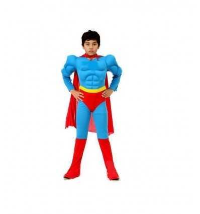 Carnival super hero costume with muscle 8-10 years 374529 Grandi giochi- Futurartshop.com