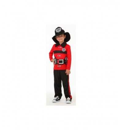 Costume de pompier rouge Carnaval 5-7 ans 374109 Grandi giochi- Futurartshop.com