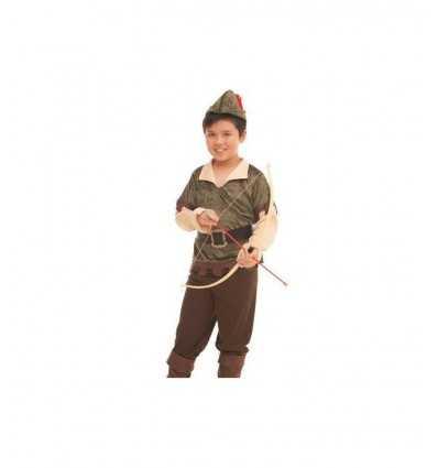 coraggioso robin hood costume carnevale 8-10 anni 374383 Grandi giochi-Futurartshop.com
