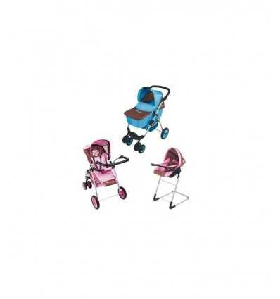 Super Set 3 en 1 silla de paseo rosa RDF1777/R Ceppi ratti- Futurartshop.com