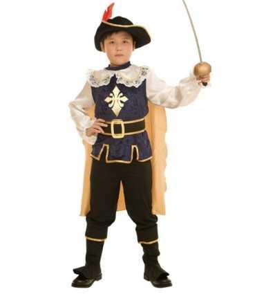 Mousquetaire de carnaval costume 5-7 ans 373461 Grandi giochi- Futurartshop.com