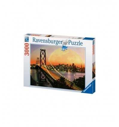 Pièces du puzzle 3000 nuit San Francisco 170395 Ravensburger- Futurartshop.com