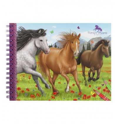 album da colorare horses dreams 047820 Crems-Futurartshop.com