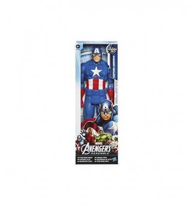 personaggio titan hero Capitan America 30 centimetri B0434EU40/B1669 Hasbro-Futurartshop.com