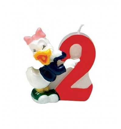 Bougie numéro 2 disney Daisy duck 6142 New Bama Party- Futurartshop.com