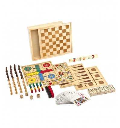 Jeu de dames et d'échecs jeu 9 en 1 GG95000 Grandi giochi- Futurartshop.com