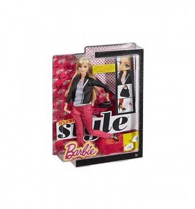 Carácter de Barbie con chaqueta pantalones fucsia y negro BLR55/CFM76 Mattel- Futurartshop.com