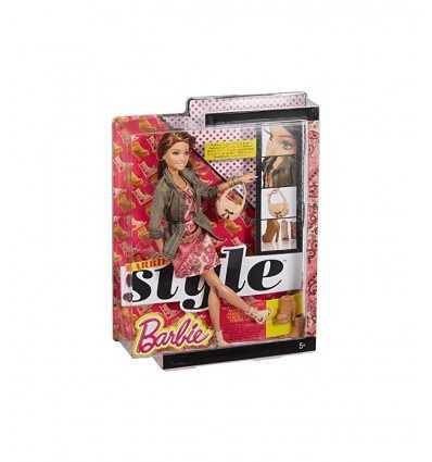 Zielony płaszcz wojskowy charakter Barbie z różowej sukience BLR55/CFM78 Mattel- Futurartshop.com