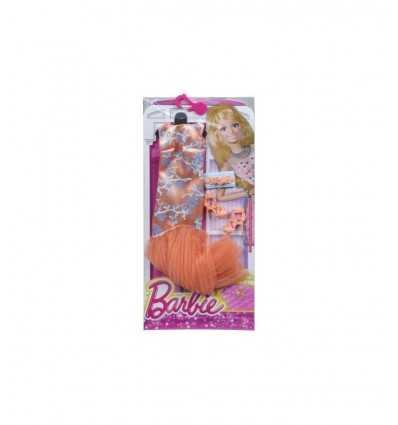 Гламурная Барби оранжевый длинное платье CFX92/CFX97 Mattel- Futurartshop.com