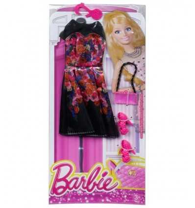 Glamoroso negro largo vestido con flores CFX92/CFX94 Mattel- Futurartshop.com