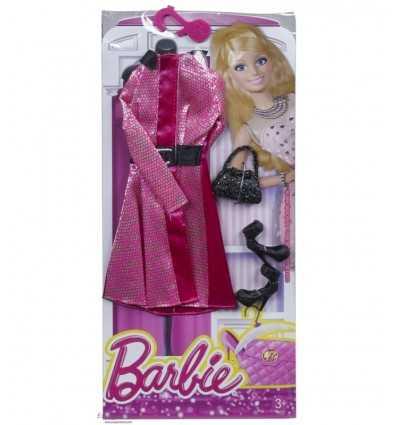 Look Barbie Glamour Fuchsia robe avec ceinture CFX92/CFX96 Mattel- Futurartshop.com