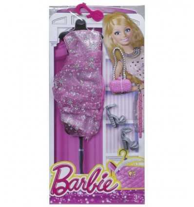 Barbie Glamour Look rosa vestido largo CFX92/CFX98 Mattel- Futurartshop.com