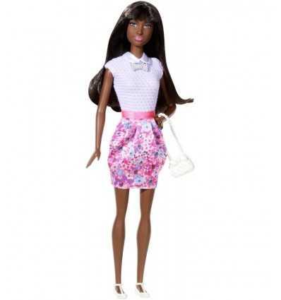 Barbie fashionistas with lilac and Fuchsia dress floral fantasy BCN36/CJY44 Mattel- Futurartshop.com