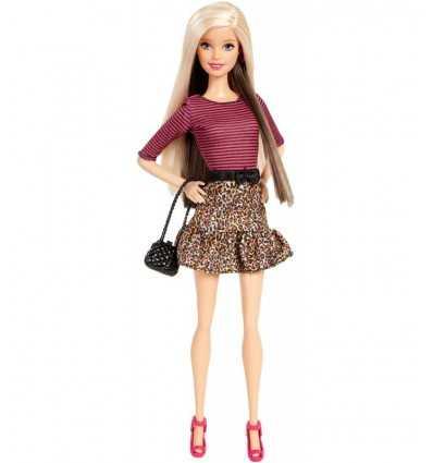 Barbie fashionistas con camisa a rayas y leopardo imprimir falda BCN36/CJY40 Mattel- Futurartshop.com