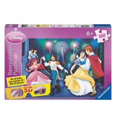 Disney Princess 3D puzzle 100 szt 13629 Ravensburger- Futurartshop.com