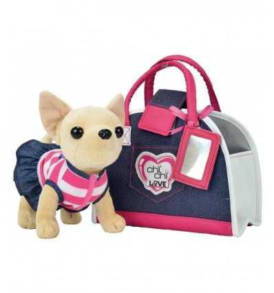 Chi Chi Love Denim mode handväska med förkläde 105890599009 Simba Toys- Futurartshop.com