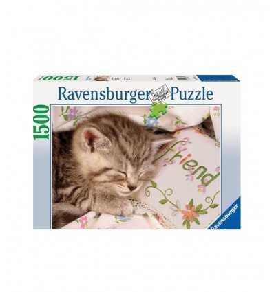 sleeping kitten puzzle 1500 PCs Ravensburger- Futurartshop.com