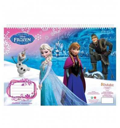 frozen album da colorare con stickers DIS560419 Grandi giochi-Futurartshop.com