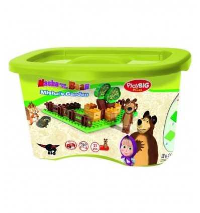 playset giardino Masha e Orso 21 mattoncini 800057092 Simba Toys-Futurartshop.com