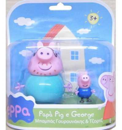 Personaggi coppia peppa pig George con papà CCP01470 Giochi Preziosi-Futurartshop.com