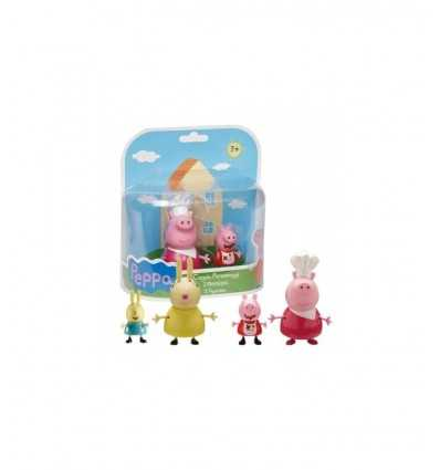 Adult couple feeding pig character with bimbo CCP05379 Giochi Preziosi- Futurartshop.com