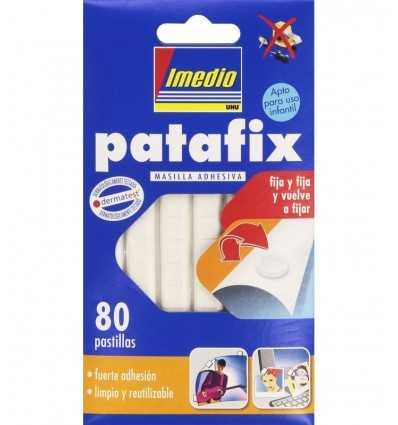 patafix bianco 80 supporti gomma adesiva D1573 -Futurartshop.com