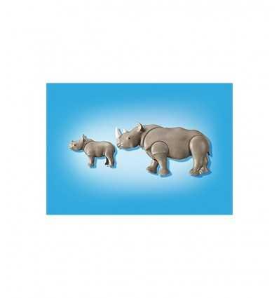 Rinoceronte con Cucciolo in bustina 6638 Playmobil-Futurartshop.com