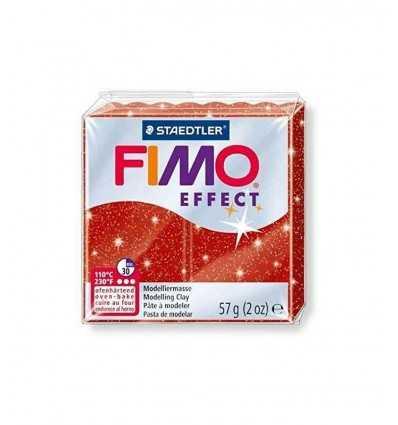 FIMO soft Effekt rot glitter 57gr Plastilin Staedtler- Futurartshop.com