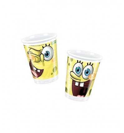 10 Plastikbecher Spongebob CMG7202 Como Giochi - Futurartshop.com