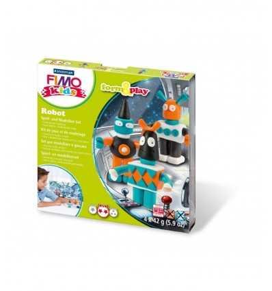 Modellierung einfügen Fimo Roboter erstellen 8034 03 LY Staedtler- Futurartshop.com