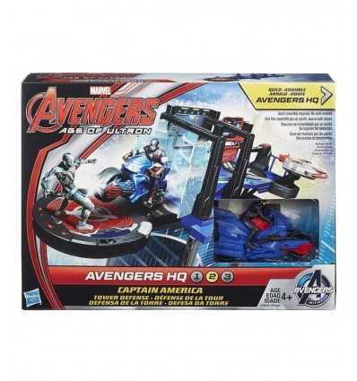 Avengers Alter von Ultron Spielset Captain America Tower Defender B1402EU40/B1665 Hasbro- Futurartshop.com