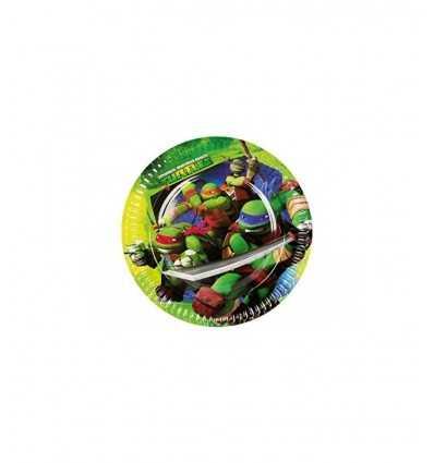 8 piatti 23 centimetri tartarughe ninja CMG552465 Como Giochi -Futurartshop.com