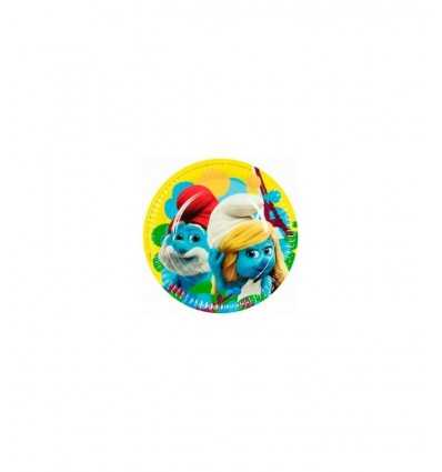 8 23 cm Gerichte Schlümpfe CMG552489 New Bama Party- Futurartshop.com