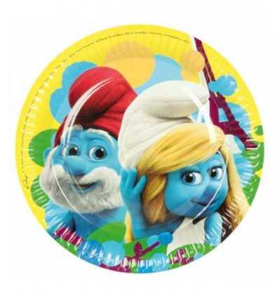 18-inch dishes 8 Smurfs 552507 New Bama Party- Futurartshop.com