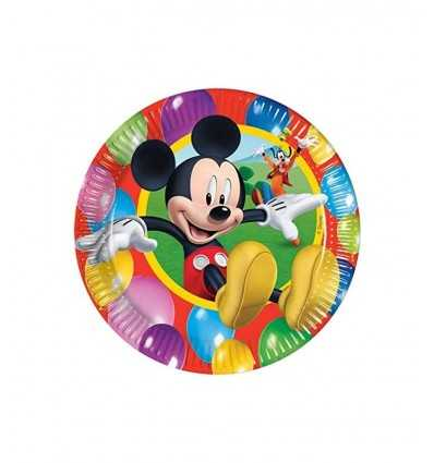 10 placas de 20 cm Mickey Mouse 4062470B New Bama Party- Futurartshop.com