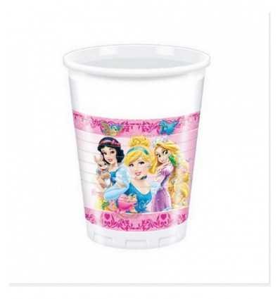 8 tazas de plástico 200 ml princesas de disney 5031333A New Bama Party- Futurartshop.com