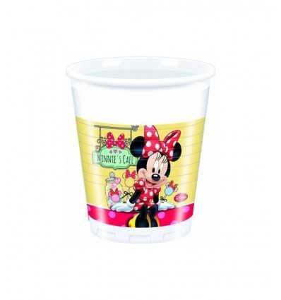 8 200 mm Kunststoff Lagerschalen Minnie Cafe 20-23377 New Bama Party- Futurartshop.com