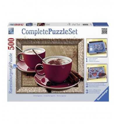 complete set puzzle 500 pieces per hour of cappuccino 14892 Ravensburger- Futurartshop.com