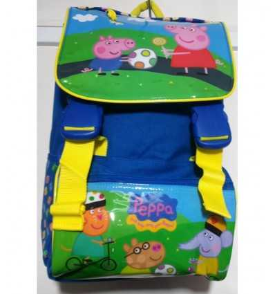 Backpack peppa pig and george with friends 131651 Accademia- Futurartshop.com