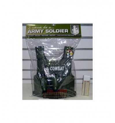 corsé de militar con armas y accesorios 397313 Grandi giochi- Futurartshop.com