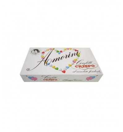 Confetti al cioccolato amorini Crispo cuore in vari colori amocel Confetti Crispo- Futurartshop.com