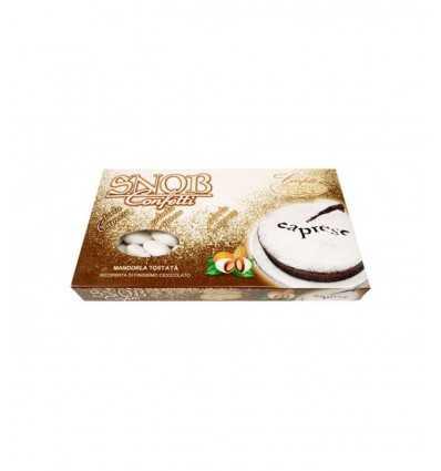 Confetti Snob caprese mandorla tostata ricoperta di cioccolato al latte Gr 500 010137562 Confetti Crispo-Futurartshop.com