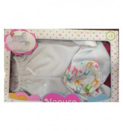 für weißen Strampelanzug Hosen Set Nenuco 700011320/T19108 Famosa- Futurartshop.com