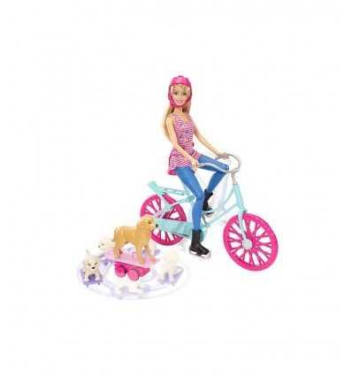 Barbie Fahrrad mit ihrem jungen CLD94 Mattel- Futurartshop.com