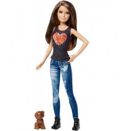 la hermana pequeña de barbie con cachorro marrón CLF96/CLF98 Mattel- Futurartshop.com
