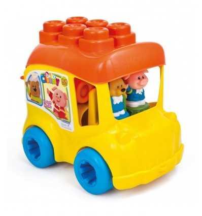 clemmy secchiello scuola bus con mattoncini 14783 Clementoni-Futurartshop.com
