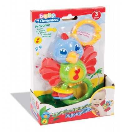 Parrot rattle with electronic 14974 Clementoni- Futurartshop.com